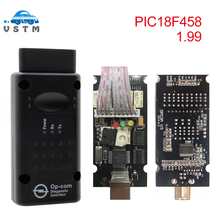 OBD2 OPCOM V1.99 1,95 1,78 1,70 для Opel OP COM OP-COM с прошивкой PIC18F458 V1.95 A+ диагностический инструмент для Opel OP COM