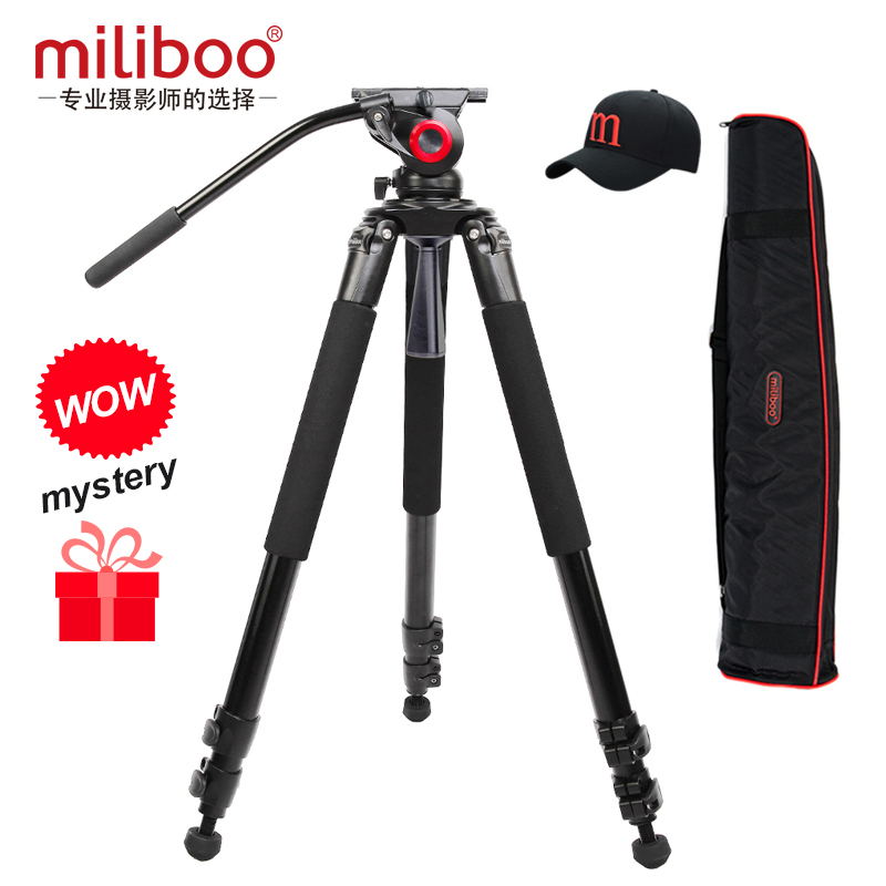 miliboo MTT701 tripod Aluminum Carbon Professional Camera Tripod with head For DSLR camcorder better than Manfrotto