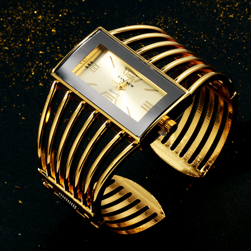 CANSNOW Womens Watch Luxury Fashion Rose Gold Bangle Bracelet Watch Women Dress Clock Female Lady Saati Girls Wristwatch Relojes