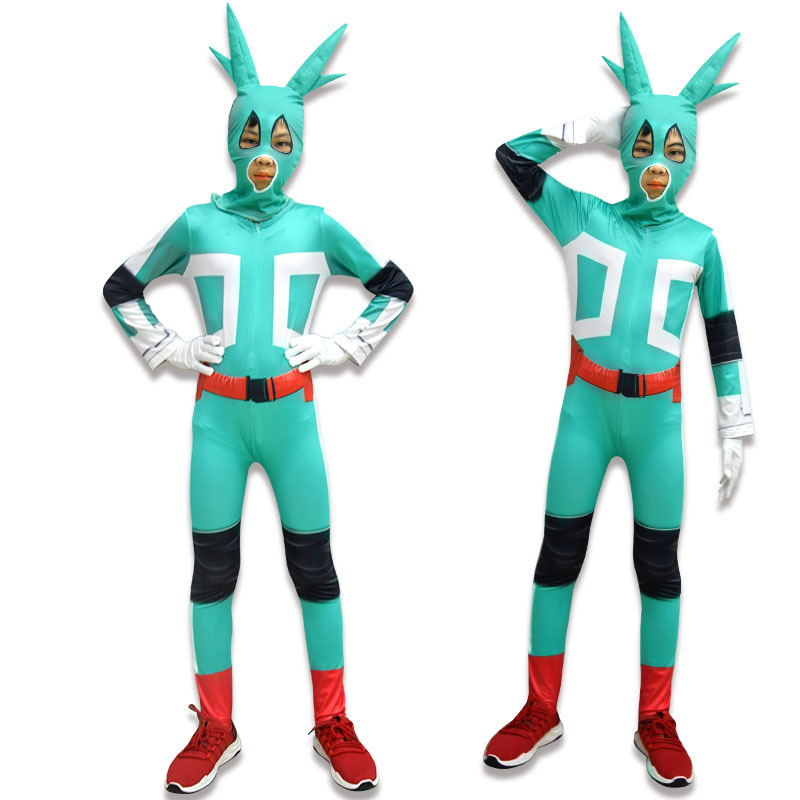 Anime my Hero Academia Uniforms Carnival Cosplay Uniforms Siamese clothes Midoriya Izuku cosplay unicorn children's show