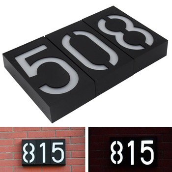 House Number Solar Light LED Bulb Digital Solar Powered Lamp Wall Mount Illumination Doorplate Porch Lights With Battery outdoor lighting doorplate solar lamp waterproof ip65 led solar light outdoor house indicating number solar number light