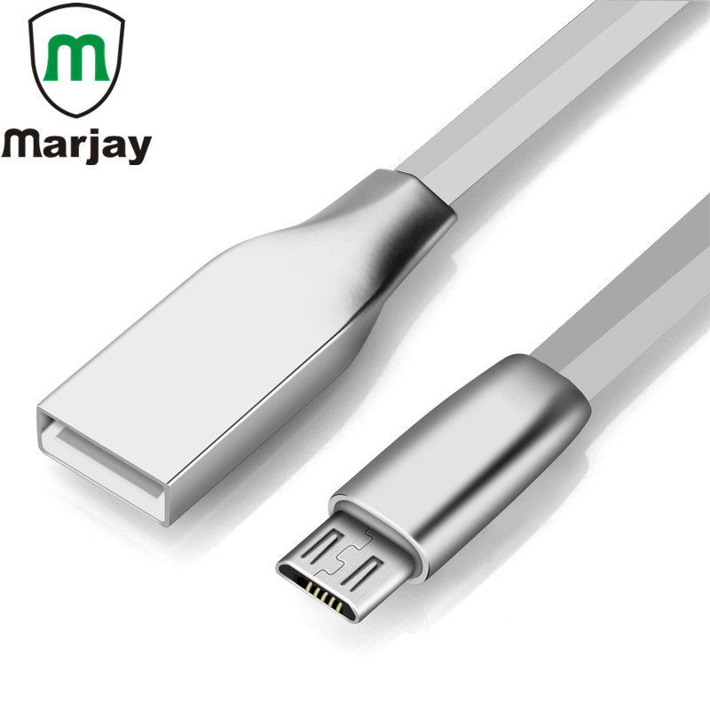 Zinc Alloy Glossy Micro USB Cable For Samsung S7 S6 Edge Xiaomi Fast Charging Phone Adapter For iPhone X 7 6 Tablets USB Cable