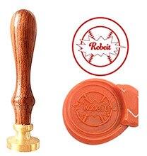 Base Ball Vintage Custom Picture Logo Luxury Wax Seal Sealing Stamp Brass Peacock Metal Handle Gift