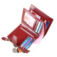 Купить с кэшбэком Fashion Women Wallets Design High Quality  Leather Wallet Female Hasp Zipper Short Card Holder Ladies Wallet with Coin Purse NEW