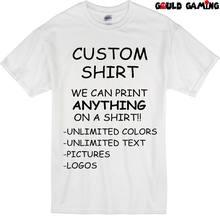 bf70970a36f Custom Gepersonaliseerde T-Shirt Bedrukken met uw foto, tekst, logo, iets  New2019 modieuze Merk 100% katoen Gedrukt Ronde Ne
