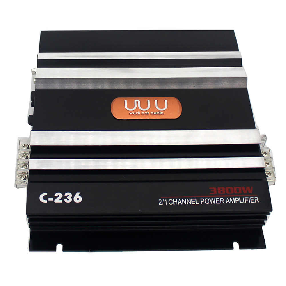 Car Amplifier High Power Subwoofer Stereo Music Replacement Sound Low Noise 2 Channel Automobiles Audio Vehicle Bass Electronics