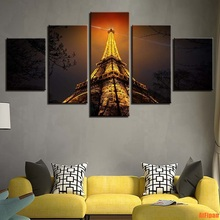 f5d2ea2374bca Buy 5 piece canvas art set eiffel and get free shipping on ...