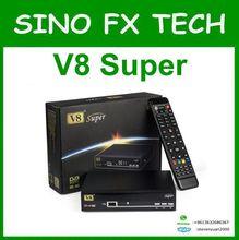 Envío universial V8 Súper DVB-S2 TV Vía Satélite Receptor Apoyo PowerVu Biss Clave 1080 p USB Wifi