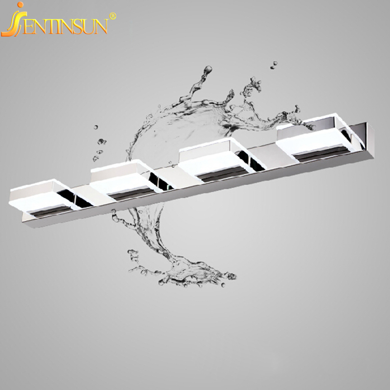 Modern 3W-12W Waterproof Acrylic LED Bathroom Mirror Light 90-260V Wall Lamp Indoor Home Fixtures Living Room Sconce Lighting 80cm modern led acrylic wall lamp 13w right angle style wall light bathroom mirror light stainless sconce home lighting fixtures