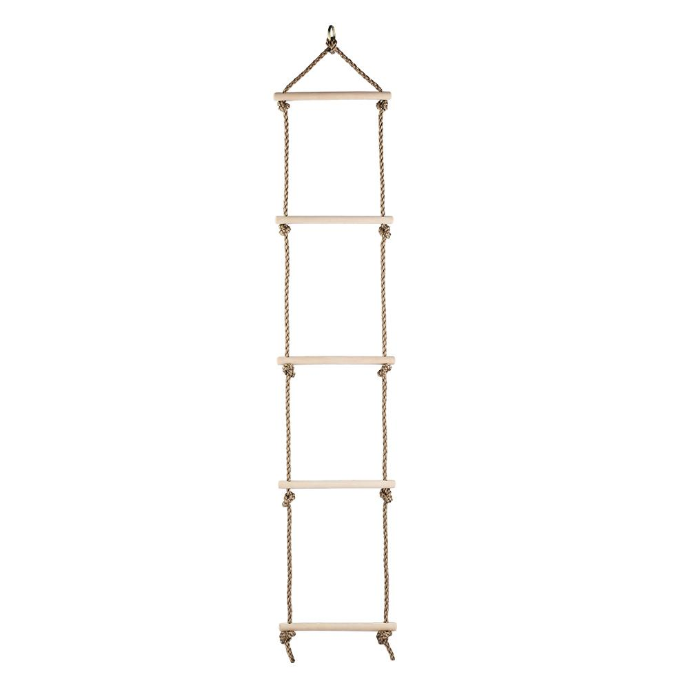 5 Steps Gymnastic Climbing Rope Ladder Sport Hook Rungs Climb Hang Ladder For Kids Garden Game children toy swing outdoor indoor wood ladder rope playground games for kids climbing rope swing wooden 5 rungs pe rope