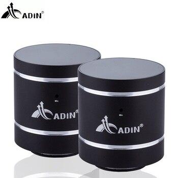 ADIN 1 Pair 20W Vibration Speaker HIFI Bluetooth Speakers Metal Phone Speaker  Mini Vibration 3D Stereo Subwoofer With MIC