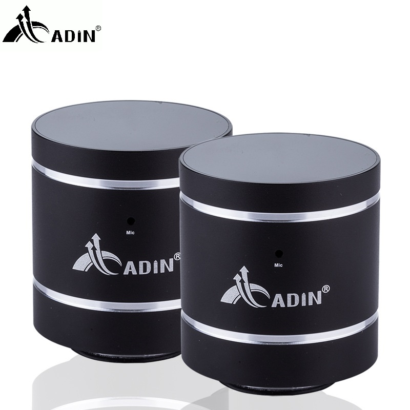 ADIN 1 paire 20 W Vibration haut-parleur HIFI Bluetooth haut-parleurs métal téléphone haut-parleur Mini Vibration 3D stéréo Subwoofer avec micro