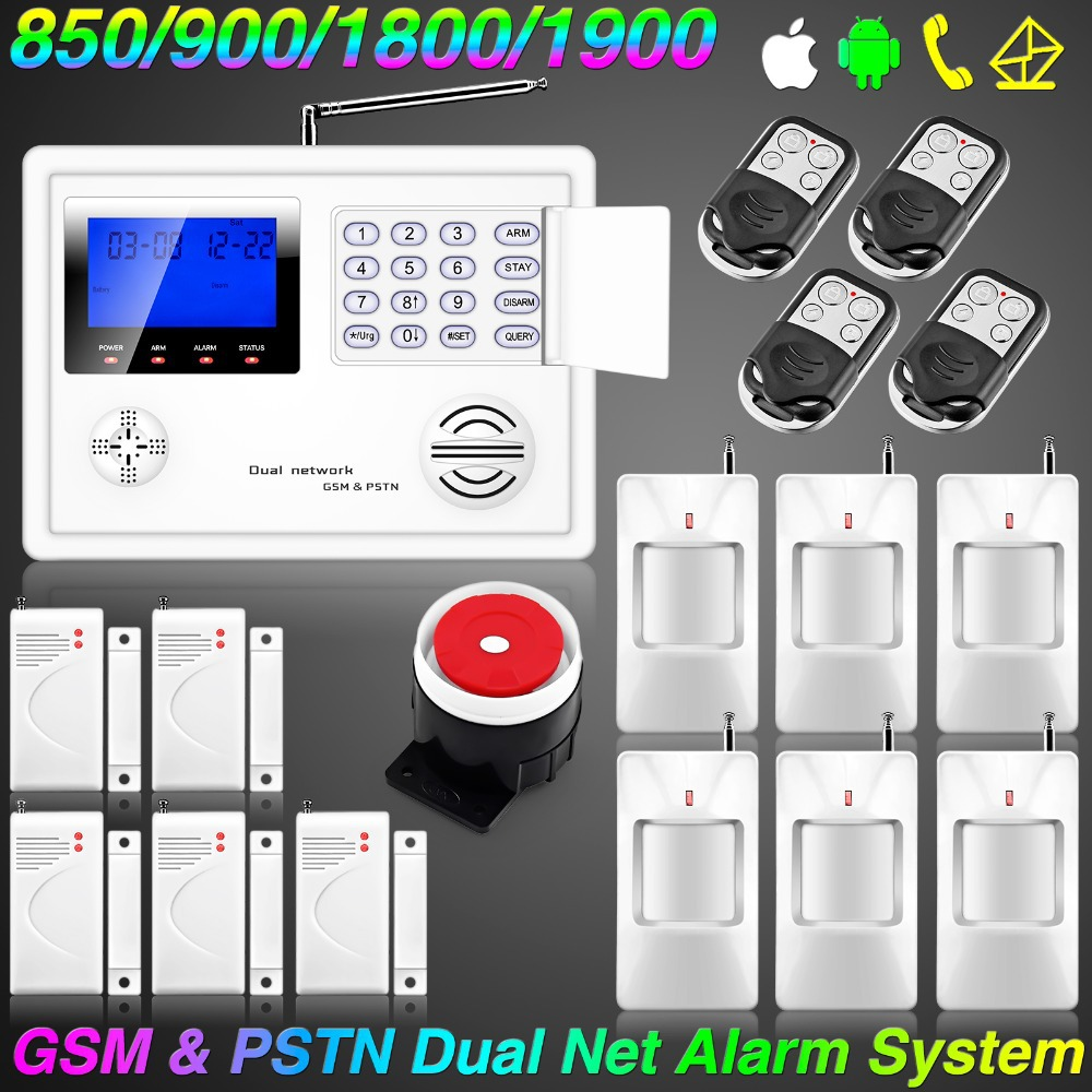 Wireless Home GSM PSTN Telephone Security Burglar Alarm Systems Security Home Android font b iPhone b