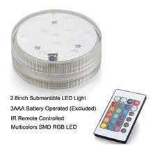 Glass Lotus hookah shisha led light with remote control RGB