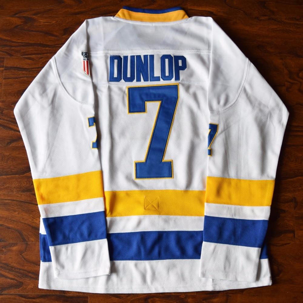 MM MASMIG Slap Shot Reggie Dunlop 7 Charlestown Chiefs Hockey Jersey Blanc S M L XL XXL XXXL