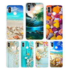 Silicone Phone Case Sea Star Seashells Fashion Printing for Xiaomi Mi 6 8 9 SE A1 5X A2 6X Mix 3 Play F1 Pro 8 Lite Cover цена