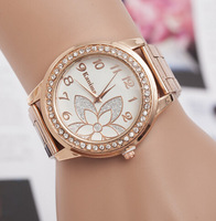 2017 New Famous Brand Rose gold Rhinestone Casual Quartz Watch Women Full Steel Watches Luxury Watches Relogio Feminino