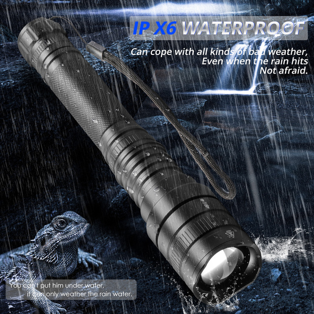 70000Lms Best Camping Flashlight xhp70 xhp50 Ultra Bright Waterproof LED Torch 18650