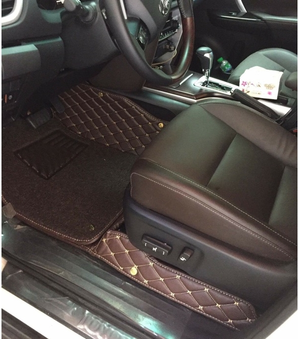 High quality! Special 3rows floor mats & trunk mat for Toyota Fortuner 7seats 2017-2015 waterproof durable carpets,Free shipping
