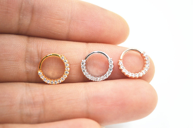 10 st cke k rperschmuck piercing cz leuchtende lippe labret ring ohr helix bar lippenpiercing - Lippenpiercing ring ...