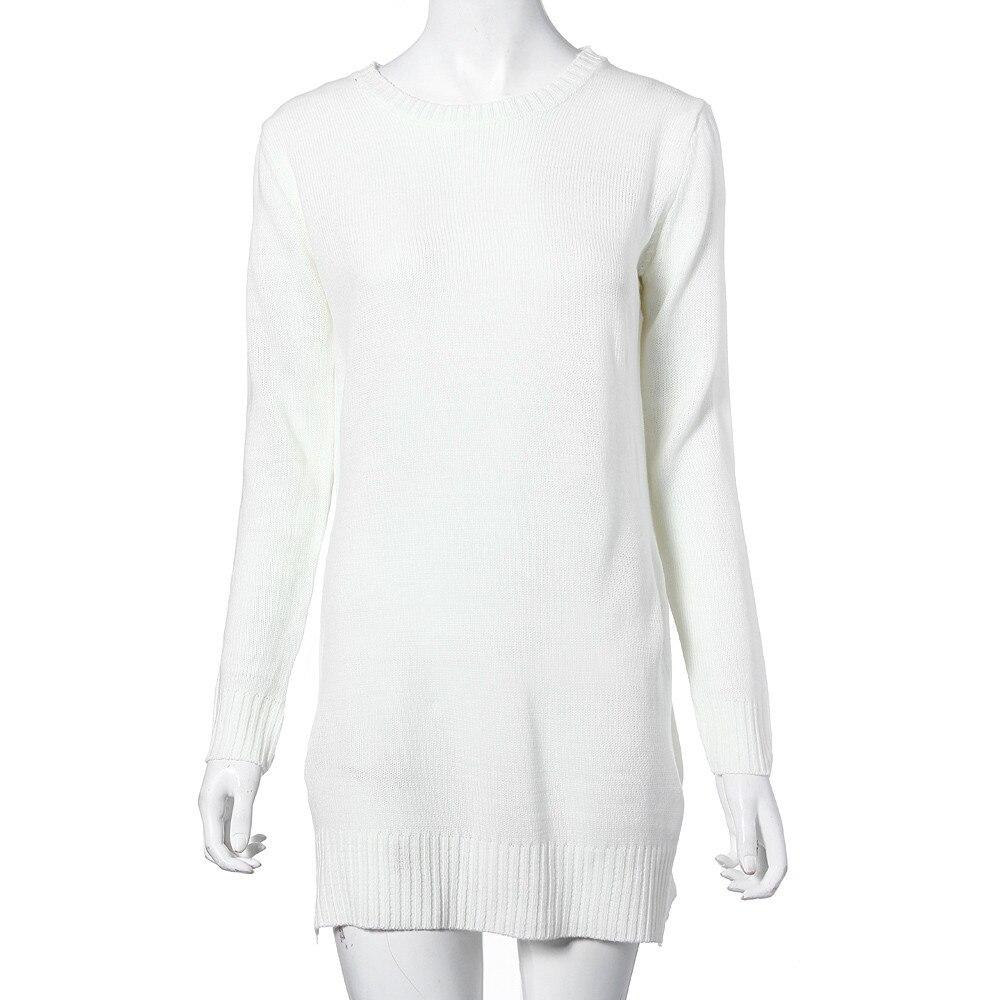 De Mujer Jersey Redondo Blanco Tejer Moda Nuevo Manga Algodón A Cardigan Cuello Punto Muqgew Creativo Larga Suéter Blend qwIXzxxR