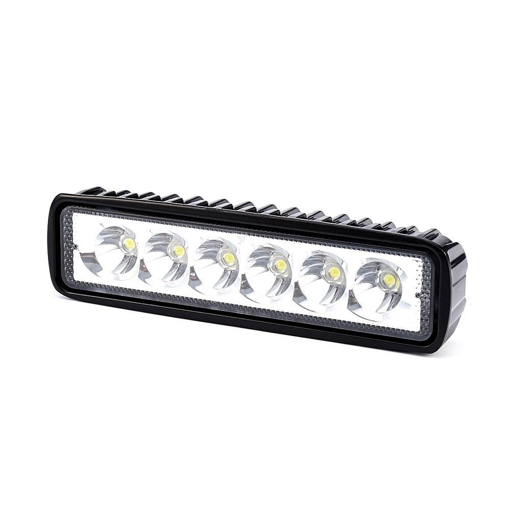 isincer 18w 12v led work light bar spotlight flood driving
