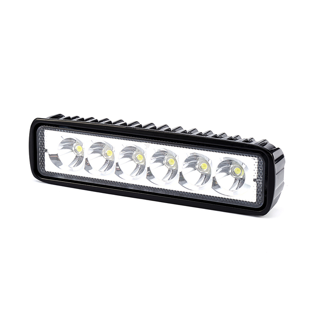 Isincer 18w 12v led work light bar spotlight flood driving light isincer 18w 12v led work light bar spotlight flood driving light fog offroad led bar car aloadofball Choice Image