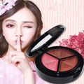 Three color eye shadow naked makeup pearly colour makeup eye shadow color plate white