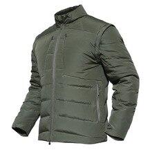 Мужская походная куртка-пуховик, теплое ветрозащитное пальто, съемный 85% белый утиный пух, походные тактические куртки для мужчин
