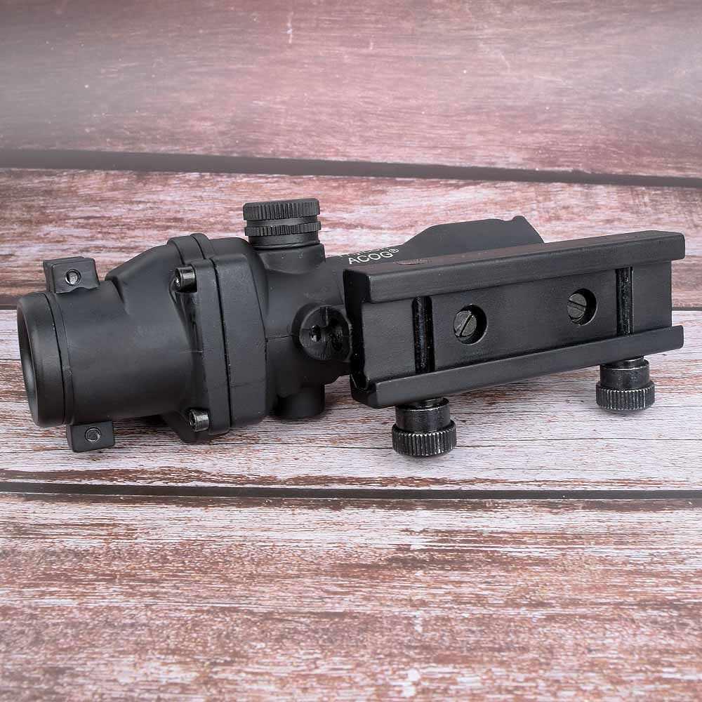هانت البصر كتف 4x32 البصرية نطاق ريفليسكوب Cahevron شبكاني الألياف الخضراء الحمراء مضيئة البصر البصري مع رمر منظر نقطة حمراء صغيرة