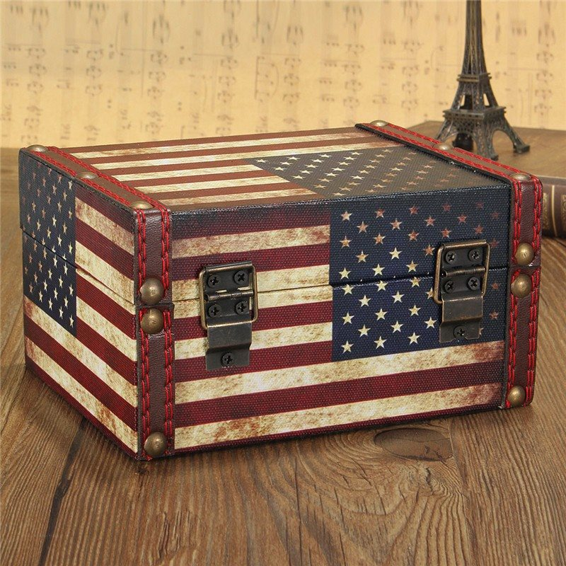 European Style Vintage Jewelry Box Wood Jewellery Organizer Storage