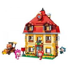 Enlighten Ideas Building Blocks Carousel Playground Ali fox Cartoon Sets Bricks Model Toys for Children Gift Double decker Bus недорого