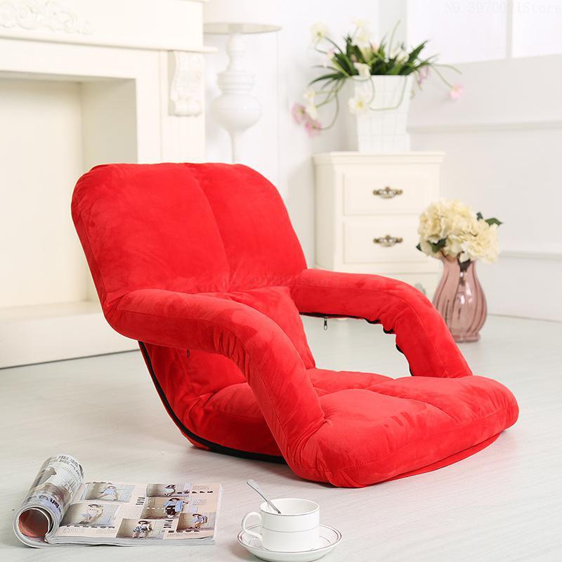 Super Zachte Katoenen Luie Sofa Kwaliteit Metalen Frame Floor Fauteuil 5 Gear Verstelbare 100 Kg Lager Liggende Enkele Stoel Bed