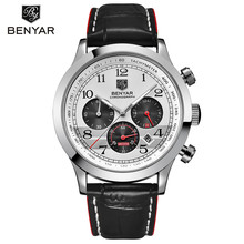 2019 BENYAR Men Watches Top Brand Luxury Quartz Watch Waterproof Leather Sport Quartz Watch Military Chronograph Reloj Hombre все цены
