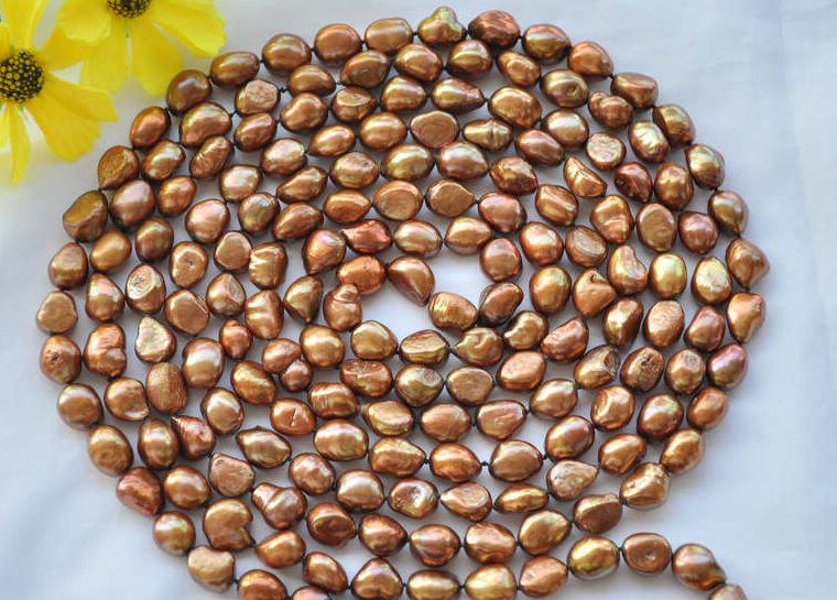 Wedding Woman Jewelry 100inch 8-11mm Brown Coffee Color Pearl Long Necklace Natural Freshwater Pearl Handmade GiftWedding Woman Jewelry 100inch 8-11mm Brown Coffee Color Pearl Long Necklace Natural Freshwater Pearl Handmade Gift