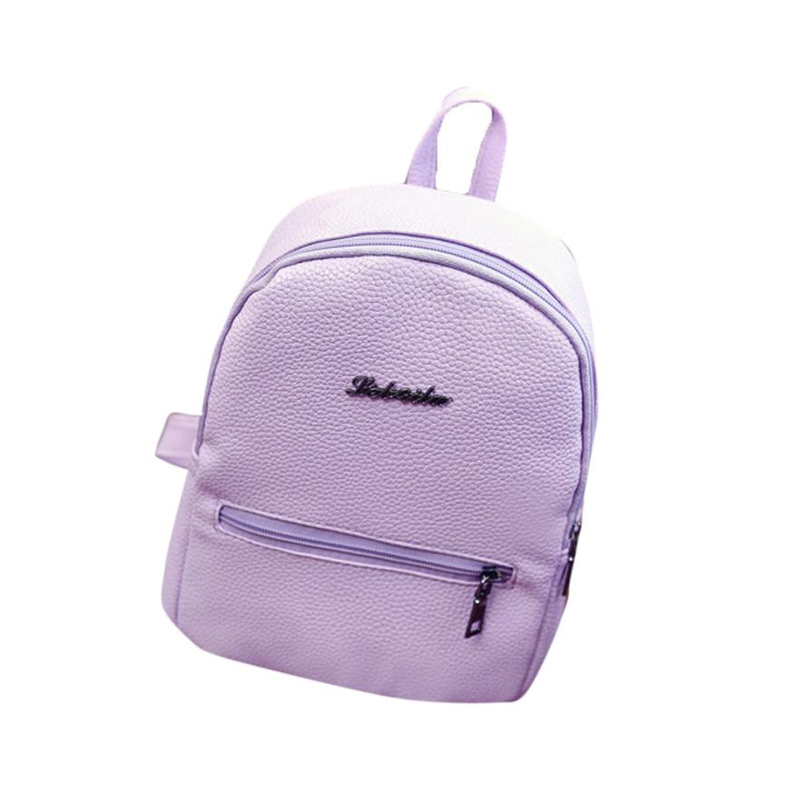 d0087dacadd US $3.34 43% OFF|Transer Girls Leather School Bag Travel Backpack Satchel  Women Shoulder Rucksack drop shippping B7 35-in Backpacks from Luggage & ...