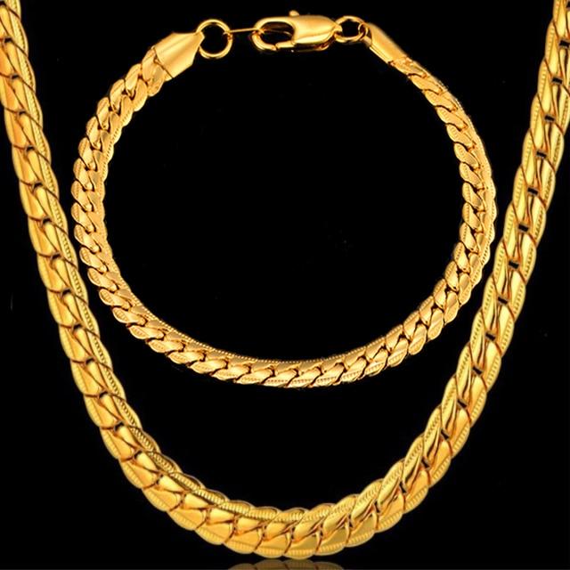 4f8648cb484 Pas cher mode fête bijoux ensembles 4 taille chaîne américaine hommes  collier ensemble en gros couleur