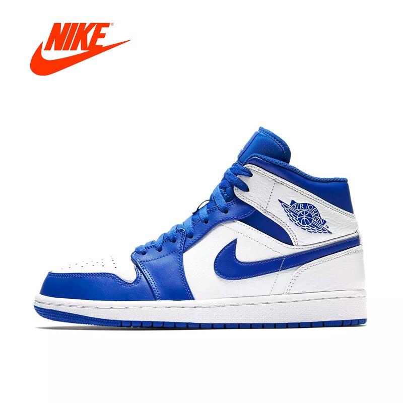 Nike Air Jordan 1 Mi AJ1 D'origine Nouvelle Arrivée Authentique Noir Jaune Joe Hommes de Basket-Ball Chaussures Sneakers En Plein Air Non -slip Chaussures