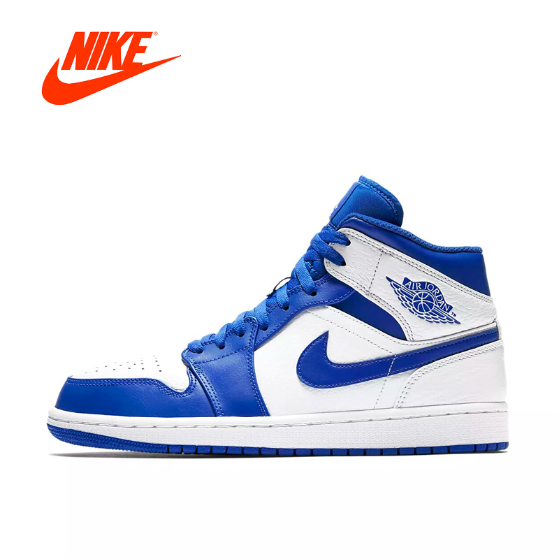 Nike Air Jordan 1 Mid AJ1 Original New Arrival Authentic Black Yellow Joe Men's Basketball Shoes Sneakers Outdoor Non-slip Shoes nike nike air jordan 1 mid original girl kids basketball shoes children causal skateboarding sneakers