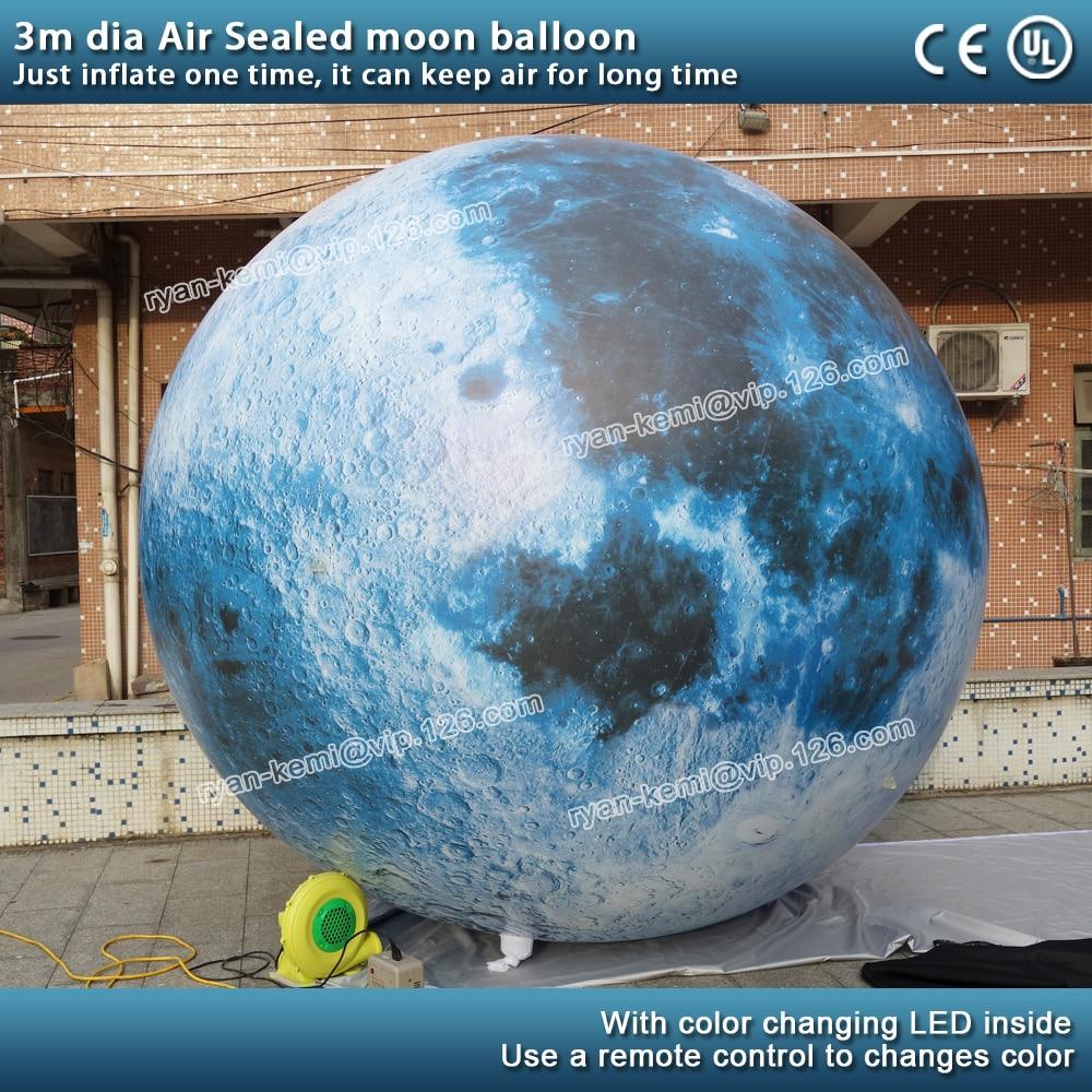 Морской воздух светодиодный ПВХ надувные луна шар moon Сфера с светодиодный освещение висит надувной Луна мяч для украшения ПВХ земли