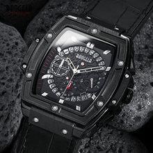 BAOGELA męska sport Chronograph Quartz zegarki moda skórzany pasek 24 godzinny wyświetlacz zegarek wojskowy dla człowieka 1703 czarny