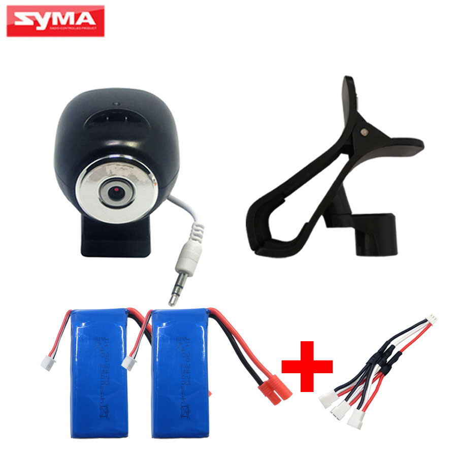 SYMA FPV WiFi Camera For X8W X8HW RC Helicopter Spare Parts 2Pcs 25c 2500mAh lithium Battery + Charger Quadcopter Accessories