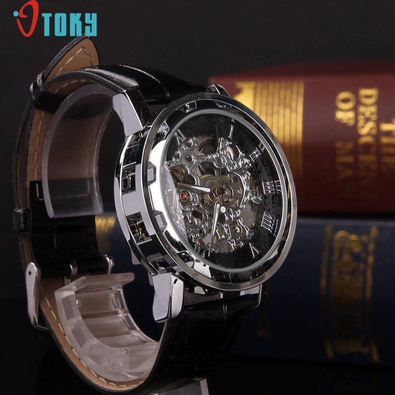 Excellent Quality OTOKY Luxury Automatic Mechanical Skeleton Dial Stainless Steel Band Wrist Watch Men Women Best