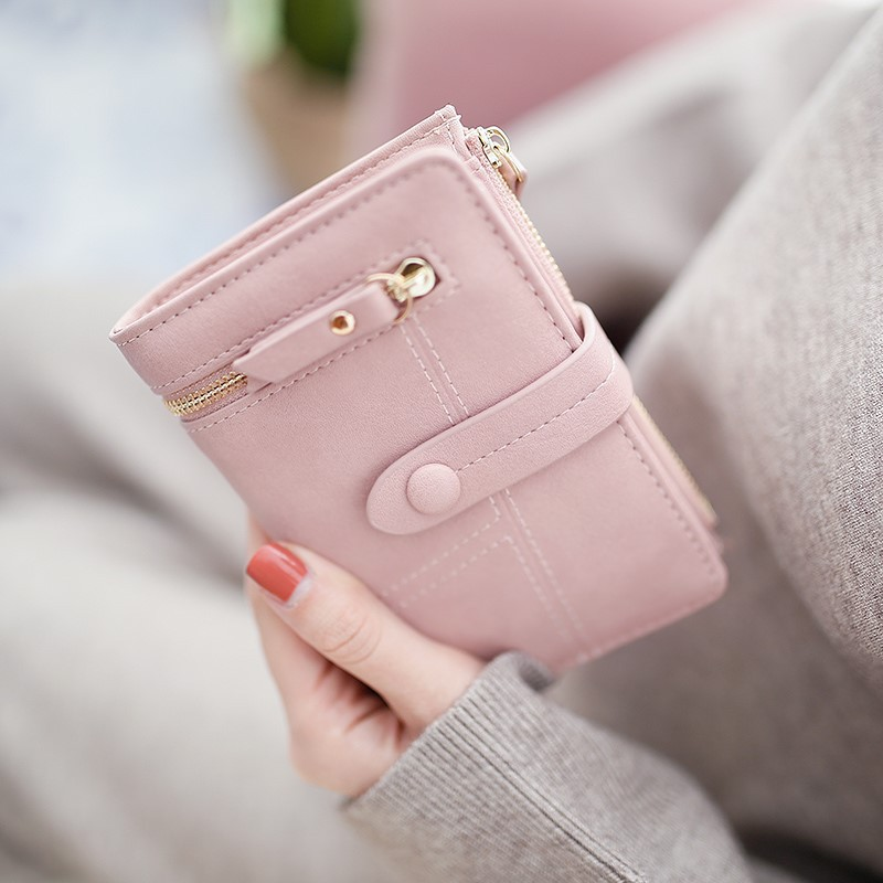 Bisi Goro Women's Wallet Short Style 2019 New Korean Version Student Folding Multifunctional Handbag Small Wallet Card Holder