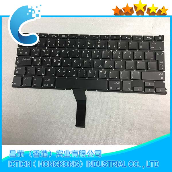 20pcs/lot Brand New A1369 A1466 AR Arabic Keyboard For Apple Macbook Air 13 A1466 A1369 Keyboard Arabic Standard 2011-2015