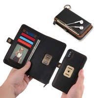 BuzzLee Luxury Vintage Flip Case For iPhone X 8 7 6 PU Leather Wallet Card Slot Cover For iPhone X 8 7 6S Plus Phone Case Coque