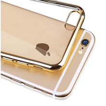 Luxury Ultra Thin Clear Crystal Rubber Plating TPU Soft Mobile Phone Case For iPhone 6 6s 6Plus Case Cover Bag