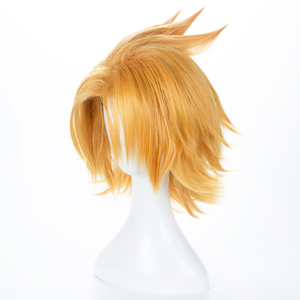 Image 3 - Peluca Boku no Hero Academia Kaminari Denki para hombre y mujer, disfraz de Cosplay de My Hero Academia, cabello sintético corto, pelucas de juego de rol para fiesta