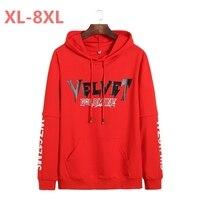 8XL 7XL 6XL 5XL 2018 New Plus Size Spring And Autumn Print Fashion Men S Hooded