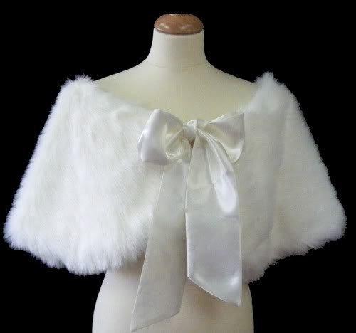 Wholesale - New design milk white Ivory Sleeveless Faux Fur,Bridal wraps,bridal shawl,Wedding shawl, bridal jacket z080